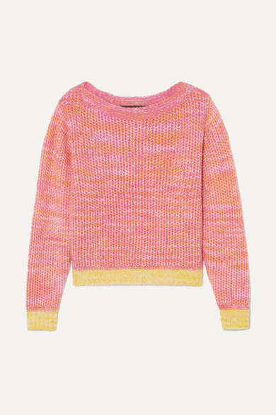 The Elder Statesman - Flowers Of Life Cashmere Sweater - Pink