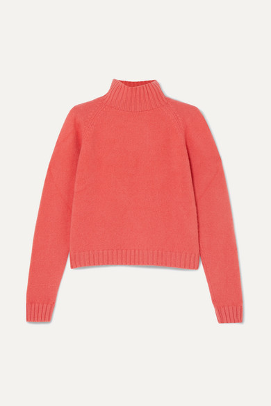The Elder Statesman - Highland Cashmere Turtleneck Sweater - Coral