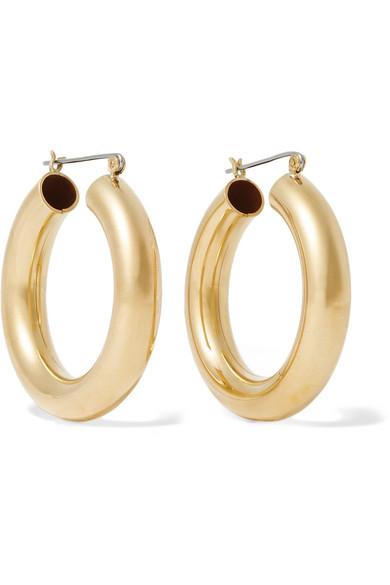 LAURA LOMBARDI Curve Brass Hoop Earrings