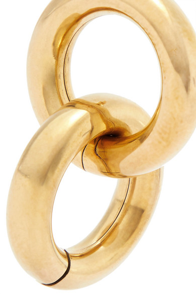 Link Gold Tone Earrings by Laura Lombardi