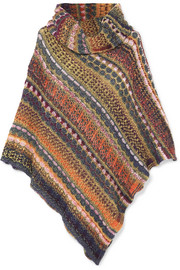 Draped Fair Isle knitted poncho