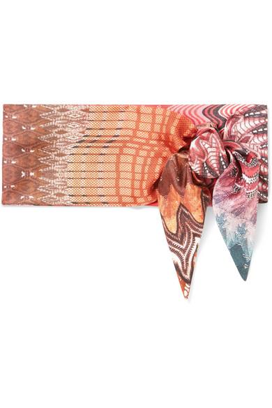 Printed Silk Scarf, Size Os, Women, Pink