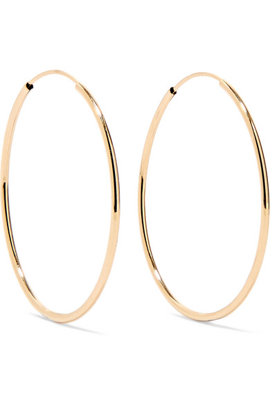 LOREN STEWART Infinity 10-karat gold hoop earrings