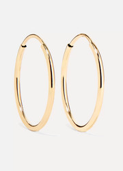 Loren Stewart Infinity 10-karat gold hoop earrings