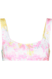 + RE/DONE The Elle tie-dyed bikini top