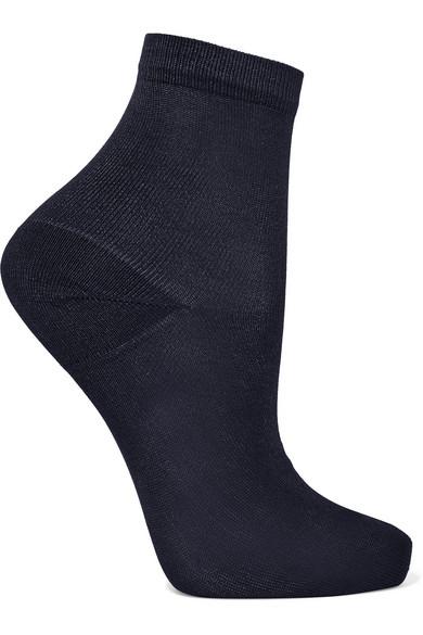 MARIA LA ROSA Silk-Blend Socks in Blue