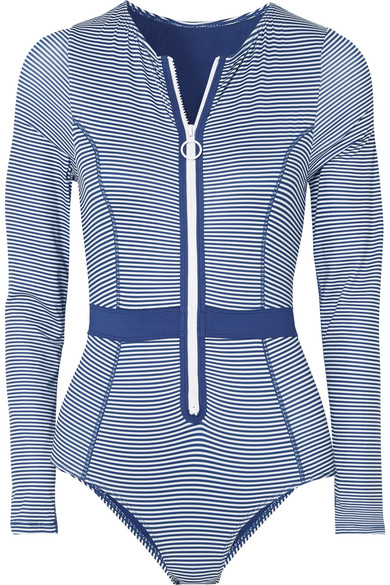 Duskii - Gigi Striped Swimsuit - Blue