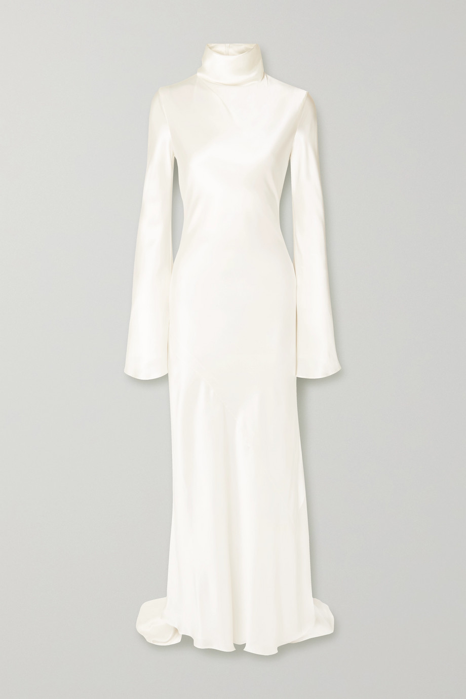 Ellery Silk-satin turtleneck gown