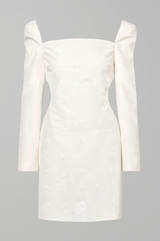 Ellery Pallen cotton-blend moire mini dress