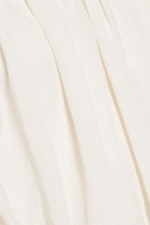 Ellery Lady Chatterley schulterfreies Oberteil aus Moiré aus einer Baumwollmischung