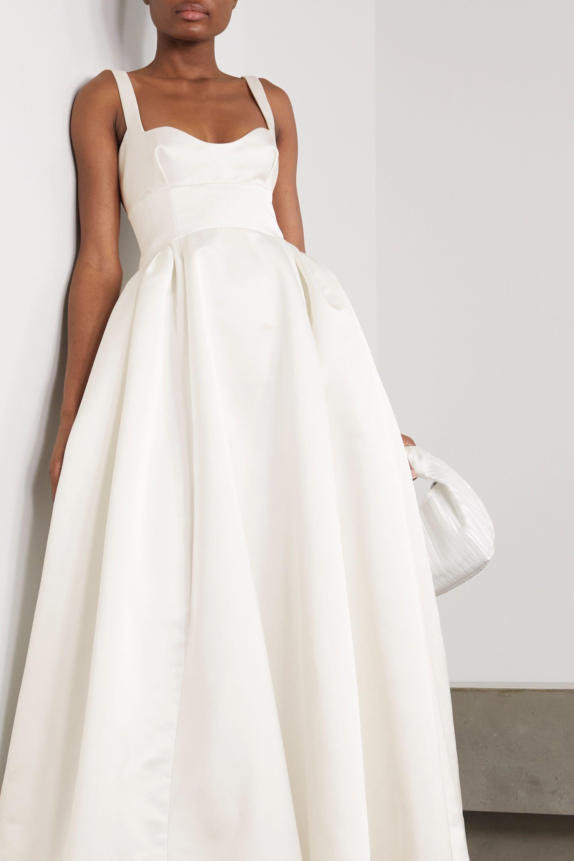 Emilia Wickstead Diamond duchesse-satin gown
