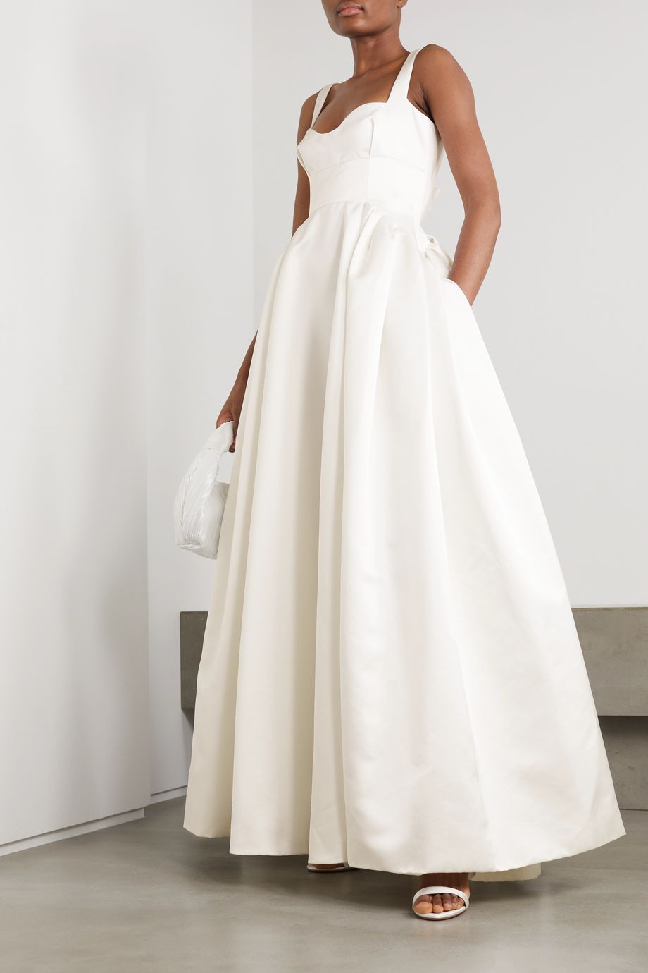 Emilia Wickstead Diamond duchesse-satin gown