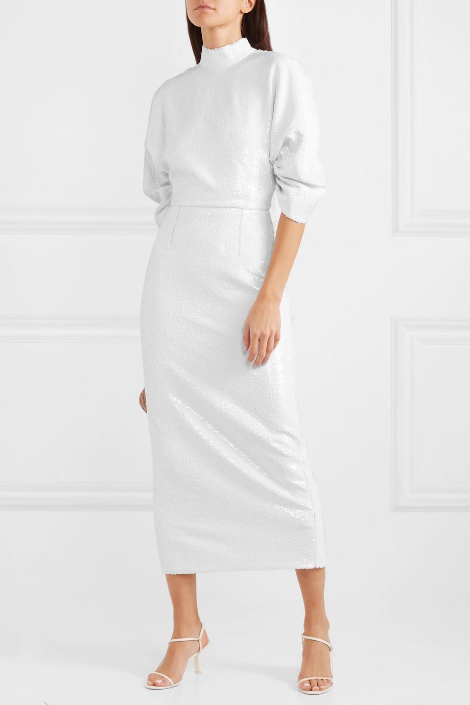 Emilia Wickstead Shari open-back sequined chiffon midi dress