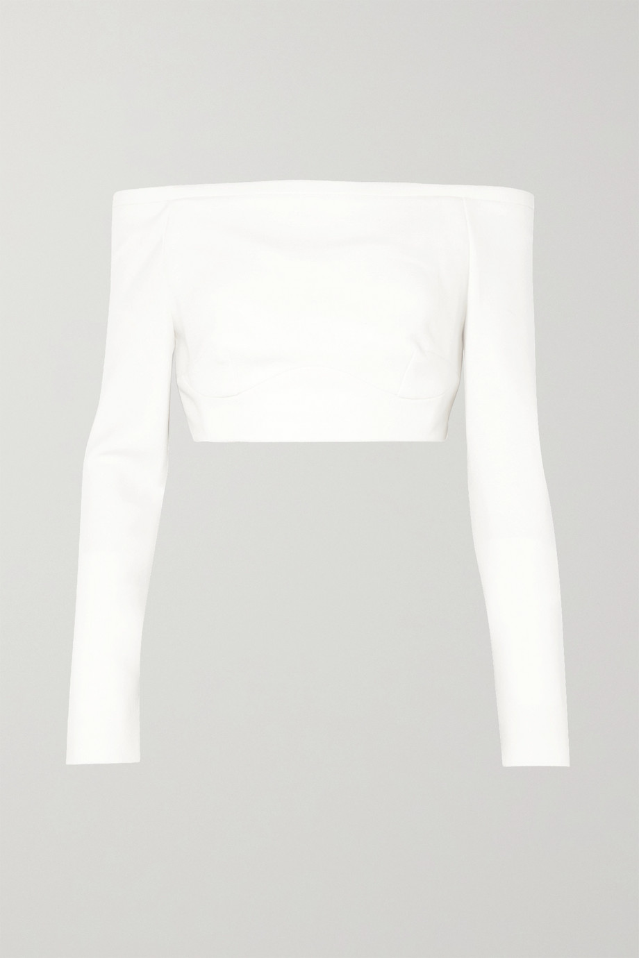 Emilia Wickstead Gerda off-the-shoulder wool-crepe top