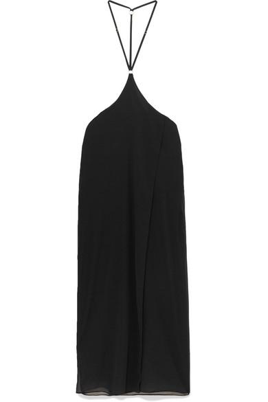 MARIKA VERA Perdita Chiffon Nightdress in Black