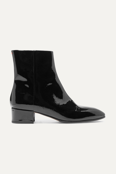 AEYDE Naomi Patent-Leather Ankle Boots