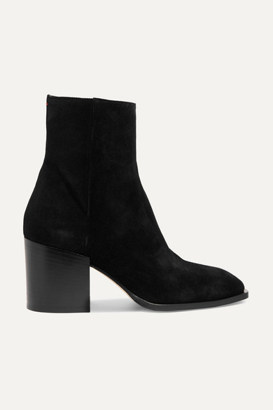 AEYDE Leandra Suede Ankle Boots in Black
