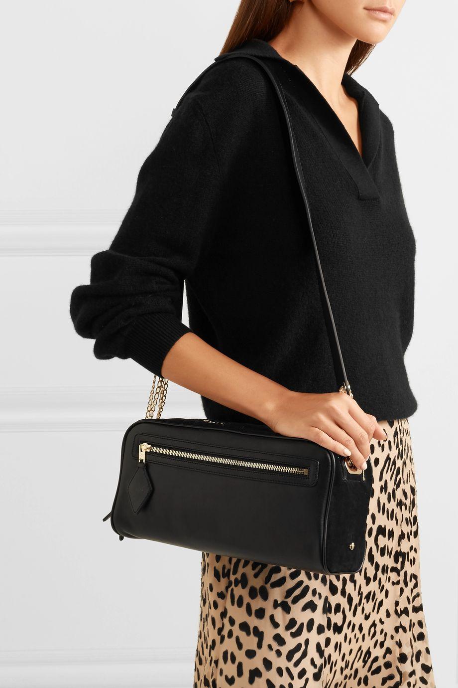 ZOOBEETLE Paris Paris-Melbourne leather and suede shoulder bag