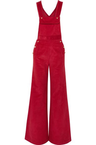 Anna Mason - Bay Cotton-corduroy Overalls - Red