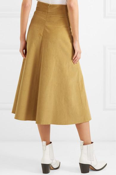 642dcc1d89 Anna Mason | Liv cotton-corduroy midi skirt | NET-A-PORTER.COM