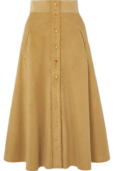 3345ff69a Anna Mason | Liv cotton-corduroy midi skirt | NET-A-PORTER.COM