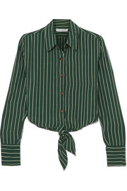 Beau Rivage striped crepe shirt