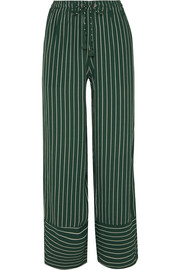 Havana striped crepe pants