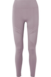 Jill perforated stretch leggings