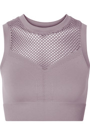 Langley perforated stretch sports bra