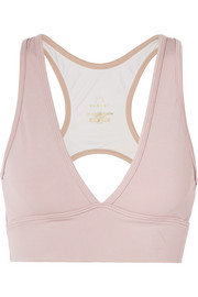 Varley Brooks Sport-BH aus Stretch-Material mit Cut-out