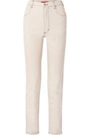 El high-rise straight-leg jeans