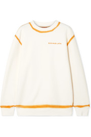 Eckhaus Latta Two-tone cotton-jersey sweatshirt