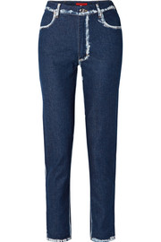 Eckhaus Latta El two-tone high-rise straight-leg jeans