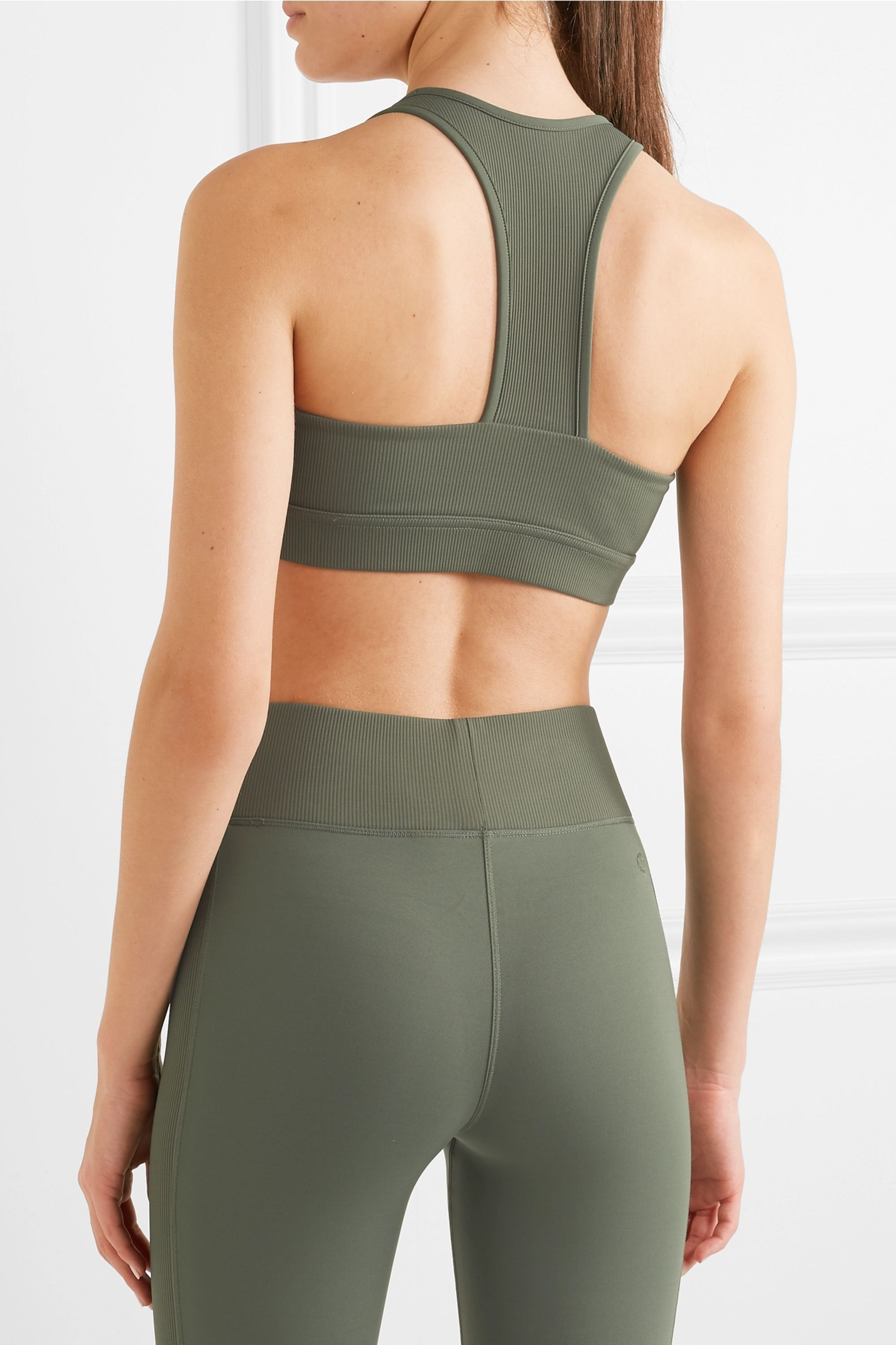 All Access Front Row ribbed stretch sports bra