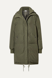 Oasis hooded shell down jacket