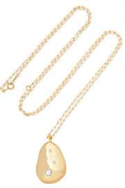 CVC Stones X2 18-karat gold diamond necklace