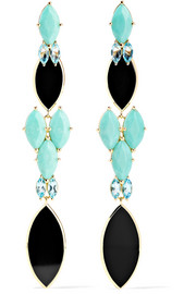 Polished Rock Candy 18-karat gold multi-stone earrings