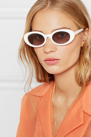 McKinley oval-frame acetate sunglasses