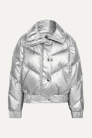 The Snowbird metallic quilted down ski jacket