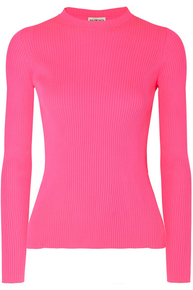 Oversoft Fluffy Crewneck Sweater in Pink