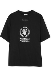 + World Food Programme printed cotton-jersey T-shirt