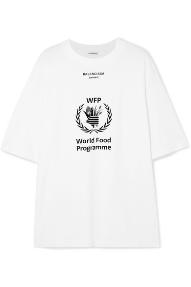 + World Food Programme Printed Cotton-Jersey T-Shirt in White