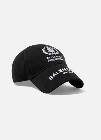 Balenciaga. + World Food Programme embroidered cotton-twill baseball cap 82fffb438d8