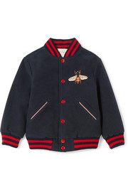 Ages 4 - 12 appliquéd felt bomber jacket