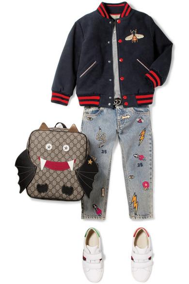9d5fa11c5 Gucci Kids | Ages 4 - 12 appliquéd felt bomber jacket | NET-A-PORTER.COM