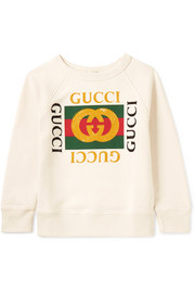 Ages 4 - 10 printed cotton-terry sweatshirt