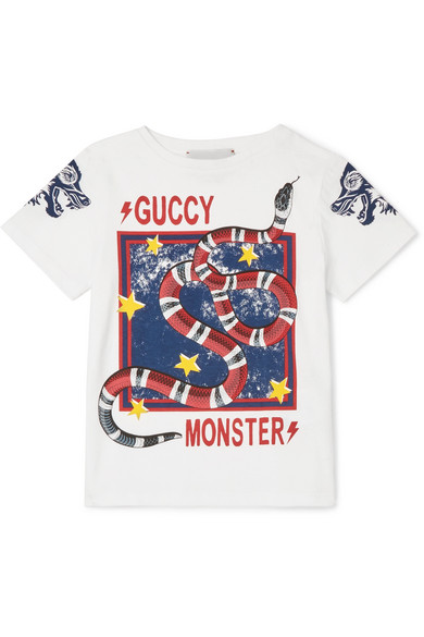 7eabaf1f8 Gucci Kids | Ages 4 - 12 printed cotton-jersey T-shirt | NET-A ...