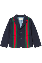 Ages 4 - 12 striped stretch-cotton gabardine jacket