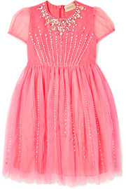Ages 4 - 12 embellished tulle dress