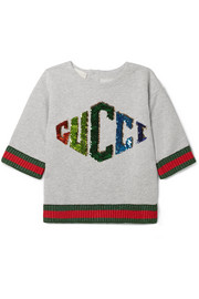 Ages 4 - 12 sequin-embellished cotton-jersey sweatshirt